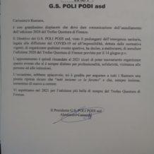 Trofeo Questura di Firenze ANNULLATO!!!